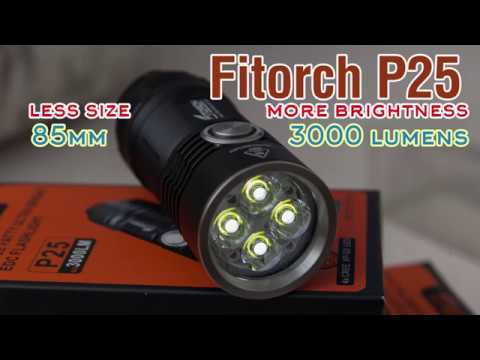 flashlight review: EDC flashlight Fitorch P25 | 3000 lumens full review