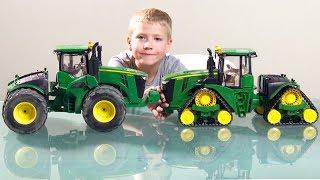 BRUDER Spielwaren - Tractor JOHN DEERE 9620RX Raupentraktor NEW 2018