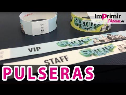 Impresión de PULSERAS para Eventos | Imprimir24horas.es