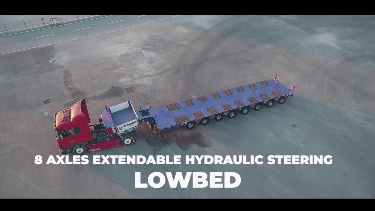 8 Axles Extendable Hydraulic Steering