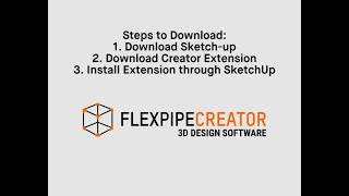 Flexpipe Creator Extension for SketchUp in 3 steps | Flexpipe