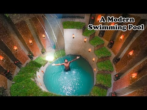 WOW: Dude Builds Huge Swimming Pool Using Only Nature