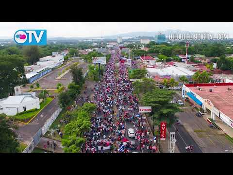 Mar rojo y negro recorre Managua