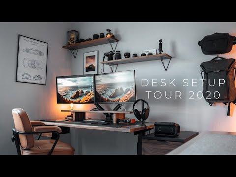 My Dream Desk Setup 2020 | Solid Wood + Standing Desk