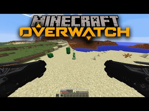 OVERWATCH IN MINECRAFT ?! MINEWATCH MOD for MINECRAFT | BE REAPER , HANZO , TRACER , McCREE , ANA