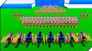 ОГРОМНАЯ АРМИЯ СОЛДАТИКОВ НАСТУПАЕТ.СНАЙПЕРЫ, ПУШКИ, ПУЛЕМЁТЫ ГАТЛИНГА,МУШКЕТЫ - Игра Wooden Battles