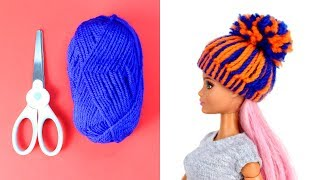 DIY Barbie Hacks Cute Hats and Barbie Clothes Tutorials and Easy Ideas for Barbies for Kids