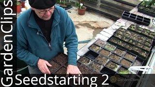 Starting Seeds Indoors Part 2 - Indoor Seedstarting - germinating trays and seedstarting growing mix