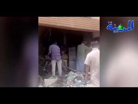 «ماس» يتسبب في حريق محل بجعرانة