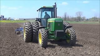 John Deere 4055 And Landoll 7410 Doing Some Spring Vertical Tillage