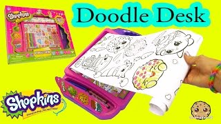 Shopkins Doodle Desk With Coloring Crayons Markers Art Set