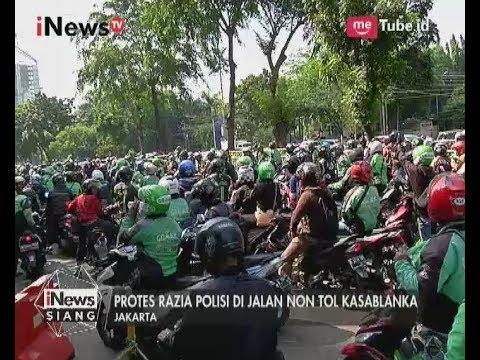 Driver Ojek Online Memblokir Jalan, Memprotes Razia Jalan Layang Casablanca -  iNews Siang 25/07