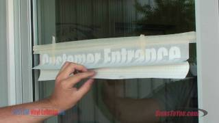 Vinyl Lettering Installation How To