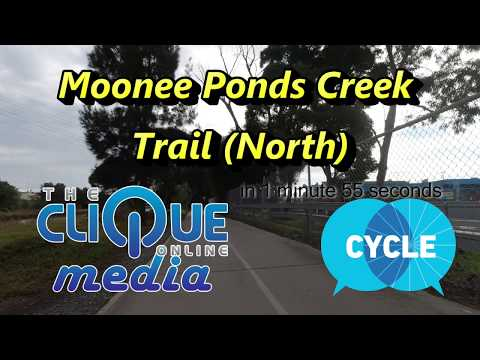 Moonee Ponds Creek Trail in 1:55... Hyperlapse fun with a little information