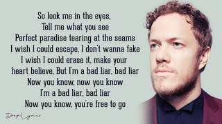Bad Liar   Imagine Dragons (Lyrics)