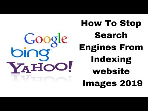 How To Stop Search Engines From Indexing website Images 2019