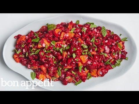 No Cook Thanksgiving Cranberry-Orange Relish   Bon Appetit