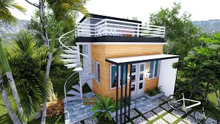 Loft House Design With Roof Deck ( 4meters X 5meters )