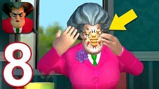 Scary Teacher 3D - Gameplay Walkthrough Part 8 - Spider Prank