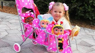 Diana Little Mommy for Baby doll Kids Toys Are you sleeping song Nursery Rhymes video for kids