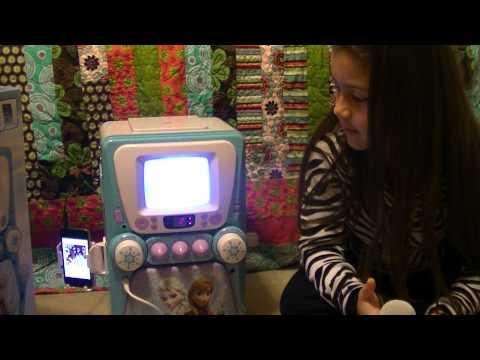 Disney Frozen Karaoke Machine with Monitor plus Bonus CD+G and Lyric Booklet - Walmart.com