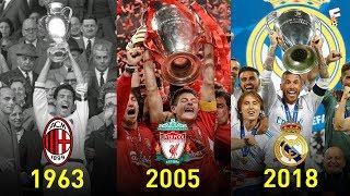 UEFA Champions League Winners 1956   2018 ⚽ Footchampion