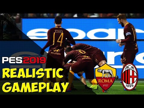 PES 2019 - Serie A TIM • AS ROMA vs AC MILAN « The most realistic gameplay ever
