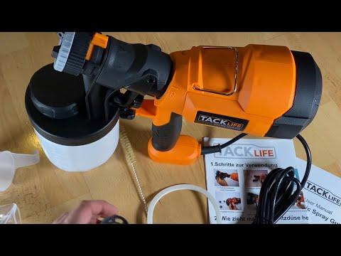 Tacklife Farbsprühsystem Elektrische Farbspritzpistole Sprühpistole SGP15AC unboxing und Anleitung