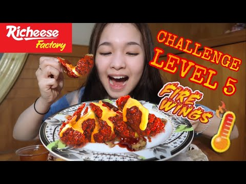 CHALLENGE RICHEESE FIRE WINGS LEVEL 5🥵🔥