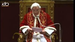 Benoît XVI promet une « obéissance inconditionnelle » au futur Pape