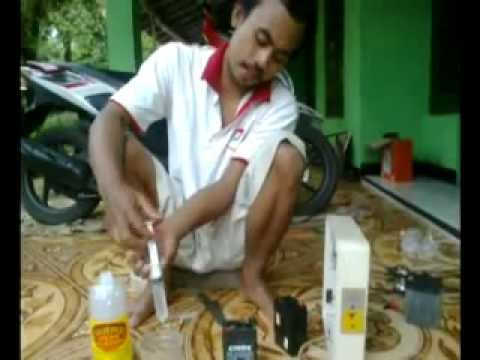 Memperbaiki Aki Kering Pengguna Emergency Lamp Aki Motor Wajib
