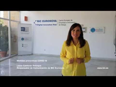 Medidas Preventivas COVID-19 en BIC Euronova, incubadora de empresas innovadoras de Málaga (PTA).
