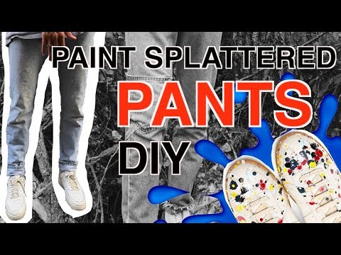 DIY: Paint Splattered Pants! ( Margiela, Vetements, Light Wash Levis )