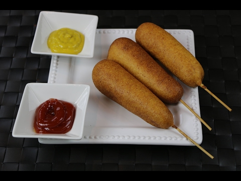 How to Make Corn Dogs – Hot dog on a Stick Recipe