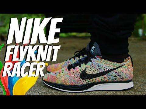 """Nike Flyknit Racer """"Multicolor 3.0"""" w/ On Foot"""
