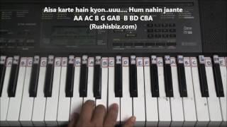 Chalte Chalte Yunhi Piano Tutorials Mohabbatein Download Notes From Description