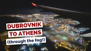 Flying from Dubrovnik to Athens Travel Vlog