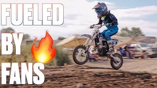 BEST MOTOCROSS RACE OF HIS LIFE FUELED BY FAN POWER | DIRT BIKE RIDER CRANKS IT UP FOR THE FANS