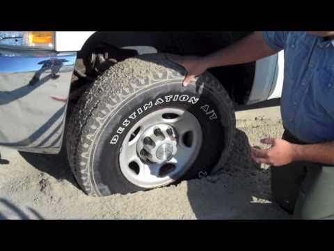 If You Drive on the Beach, Reduce the Air in Your Tires