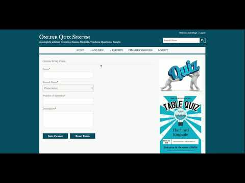 Online Examination System Quiz project in java using jsp