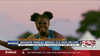 Bixby's Brandee Presley Wins Gold at U20 Outdoor Championships