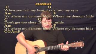 """Video thumbnail of """"Demons (Imagine Dragons) Strum Guitar Cover Lesson with Chords/Lyrics"""""""