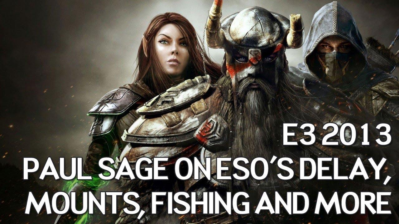 Elder Scrolls Online: видео - Paul Sage on Delay, Mounts, Fishing and More