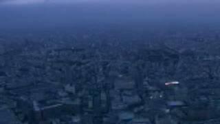 東京上空をヘリコプターから空撮東京タワー、六本木を一望!