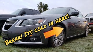 It's Cold Out! And The Drivers Side Heat Broke On The Cheapest 2010 Saab 9-5 In The USA. EP1 Diag