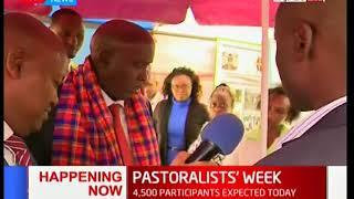 Kajiado Governor Joseph Ole Lenku arrives for the Pastoralists' week