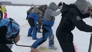 Конкурс бурильщиков на Народной рыбалке в Конаково
