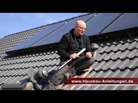 Abwasserentlüftung am Dach mit Entlüfterziegel