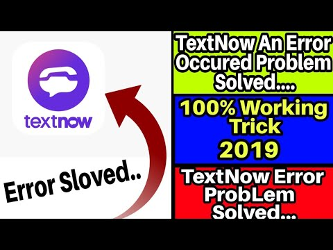 Download An Error Has Occurred Problem Solve In 2ndline Textnow