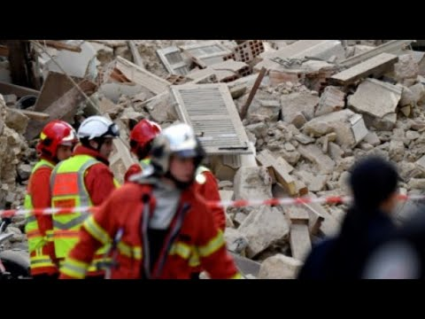 Desperate search for survivors as buildings collapse in French city of Marseille